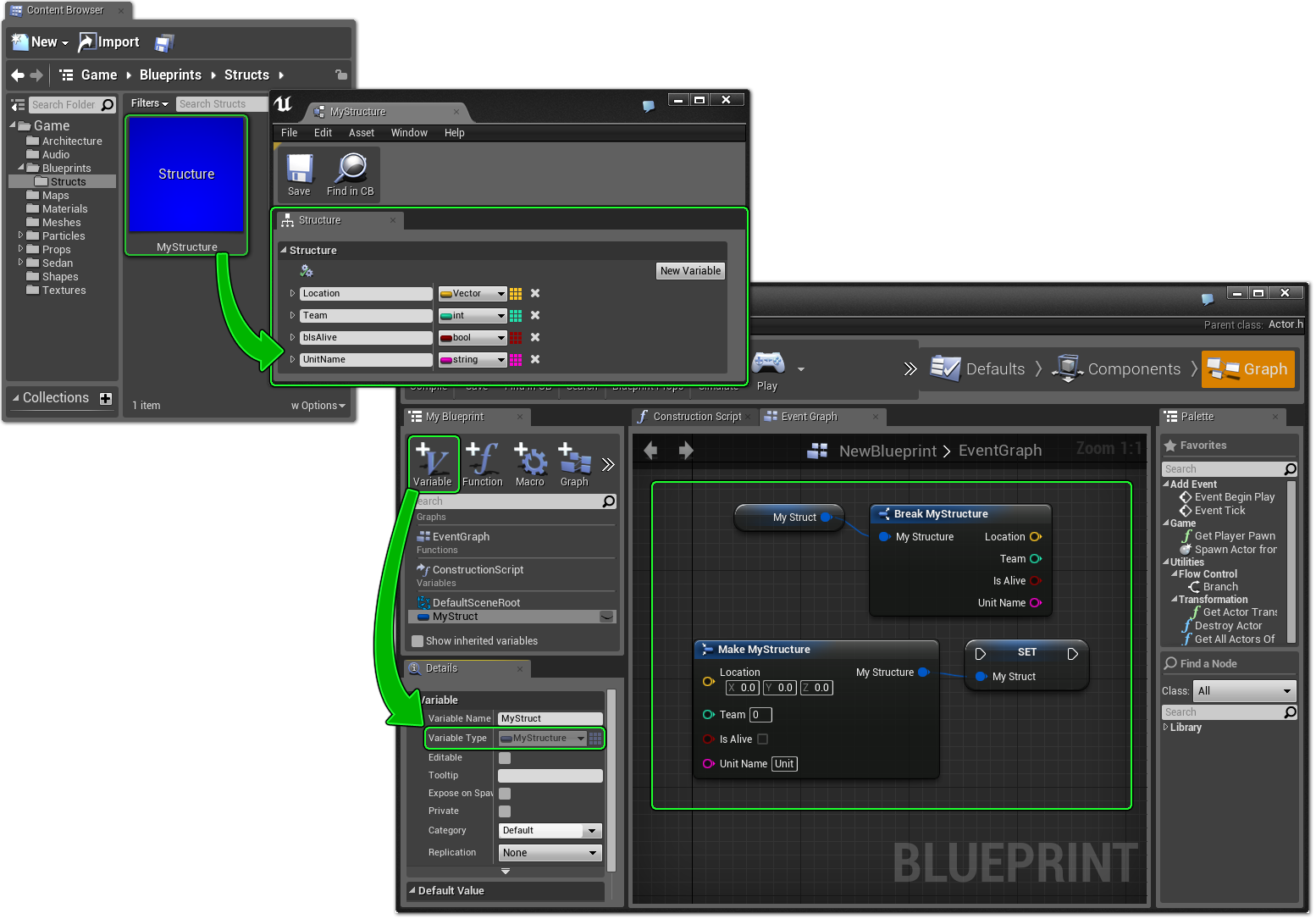Content Browser Blueprints