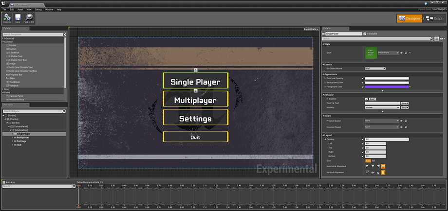 Unreal engine 44 released unreal engine forums the new widget editor tool lets you layout ui on an interactive canvas and create and preview animations in real time umg integrates deeply with blueprints malvernweather Images