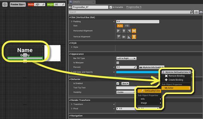Unreal Motion Graphics: New Widget Binding System